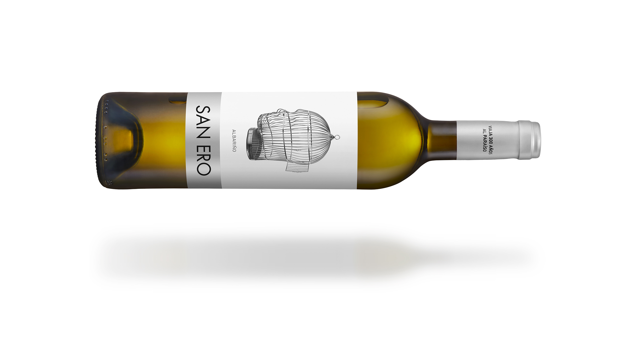 packaging vino albariño San Ero. Denominación de origen Rias Baixas.